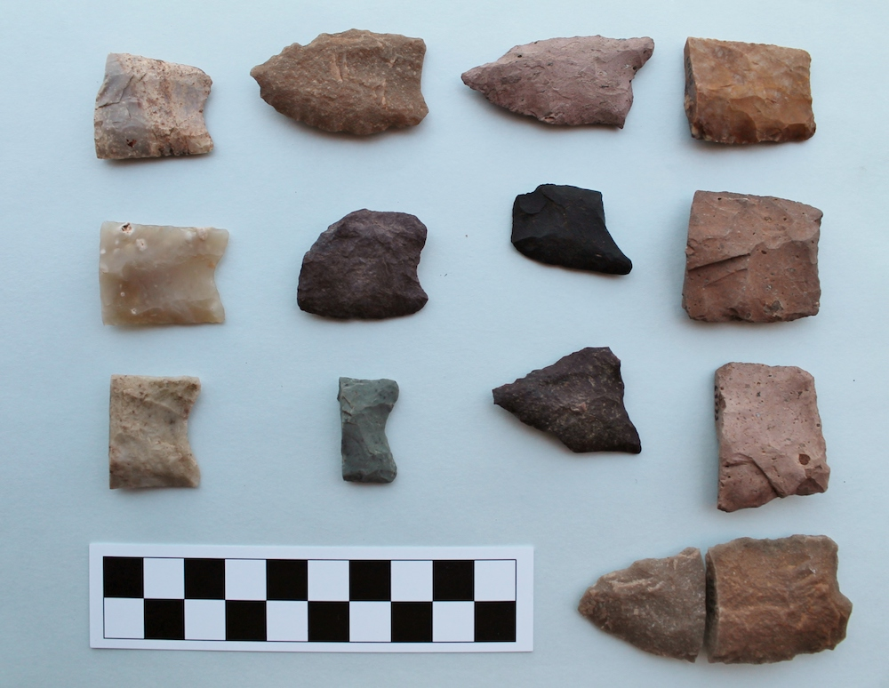 Figure 7: Artifacts from the upland localities.